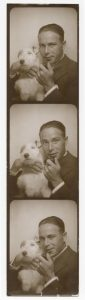 First Photobooth Strip of Josepho taken with his Terrier