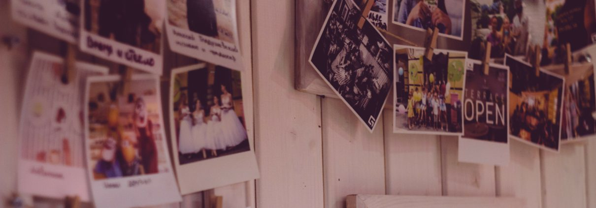Photos on a wall